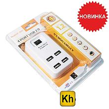 Портативный USB Хаб Разветвитель на 4 порта
