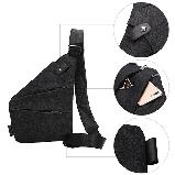 Мужская сумка-мессенджер на плечо Cross Body Black, фото 4