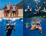 Полнолицевая панорамная маска для плавания RoundTech (S/M/L/XL) с креплением для камеры, фото 2