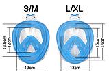 Полнолицевая панорамная маска для плавания RoundTech (S/M/L/XL) с креплением для камеры, фото 6