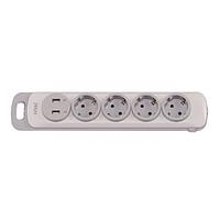 Колодка Luxel Nota 4 розетки із заземленням і вимикачем +2 USB (4351)