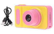 УЦЕНКА Детский цифровой фотоаппарат Smart Kids Camera V7 Pink (не сфокусирован)