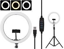 "Кольцевая LED лампа диаметром SMN-12"" (30 см) с пультом Black"