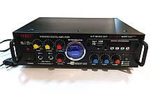 Усилитель звука UKC AV-339BT USB Bluetooth MP3 FM karaoke 2х120W