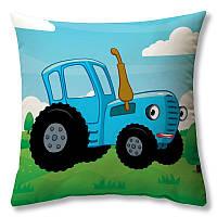 Подушка Синий Трактор 40 × 40 см принт (podushka-0025)