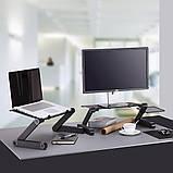 Столик для ноутбука с охлаждением Laptop Table T8 трансформер, фото 5