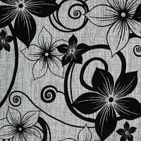 Мебельная обивочная ткань рогожка с флоком Шервуд, Флавер, Элита