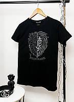 Мужская брендовая футболка Billionaire черная