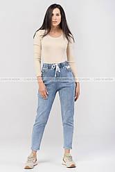 Стильные укороченные джинсы на резинке.мода 2021.