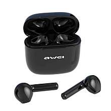 Сенсорные Bluetooth наушники Awei T26 с зарядным боксом Black