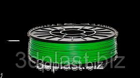 PLA пластик 3Dplast для 3D принтера 1.75 мм 0.85, зеленый