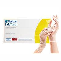 Виниловые перчатки размер S - Medicom, одноразовые перчатки виниловые неопудренные смотровые медицинские