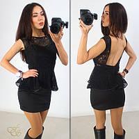 Платье с открытой спиной, верх-баска
