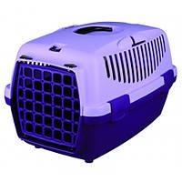 Контейнер для перевозки животных с пластиковой дверью ФИОЛЕТОВЫЙ/ЛИЛОВЫЙ Capri I & II Trixie (Трикси)