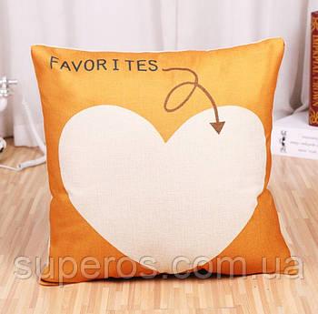 Декоративна подушка (наволочка) Колекція Love
