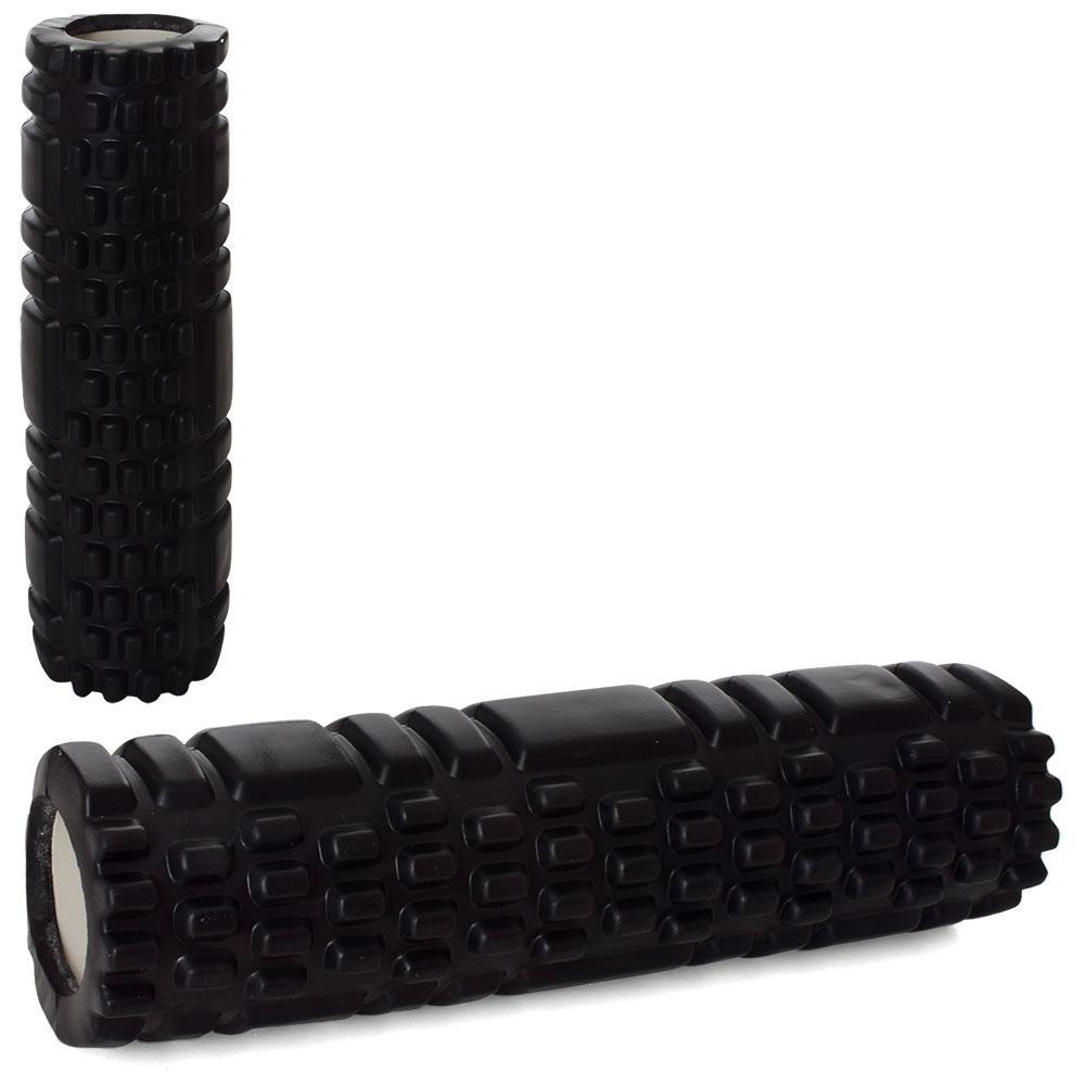 Масажер MS 1836-B рулон для йоги, EVA, розмір 30-8,5 см, чорний, в кульку, 8,5-30-8,5 см