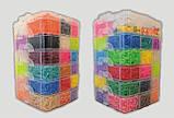Набір резинок для плетіння браслетів 16000 гумок 6 ярусів з професійним верстатом, фото 2