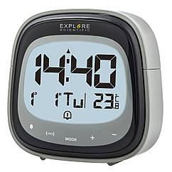 Часы настольные Explore Scientific RC Dual Alarm Black (RDC3006CM3LC2)