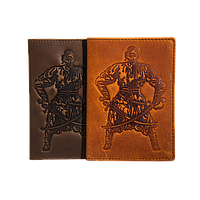 Кожаная обложка на паспорт мужская