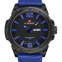 Годинники наручні кварцові Naviforce 9066 сині