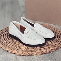 Белые кожаные мокасины 3306 (ПП), фото 3