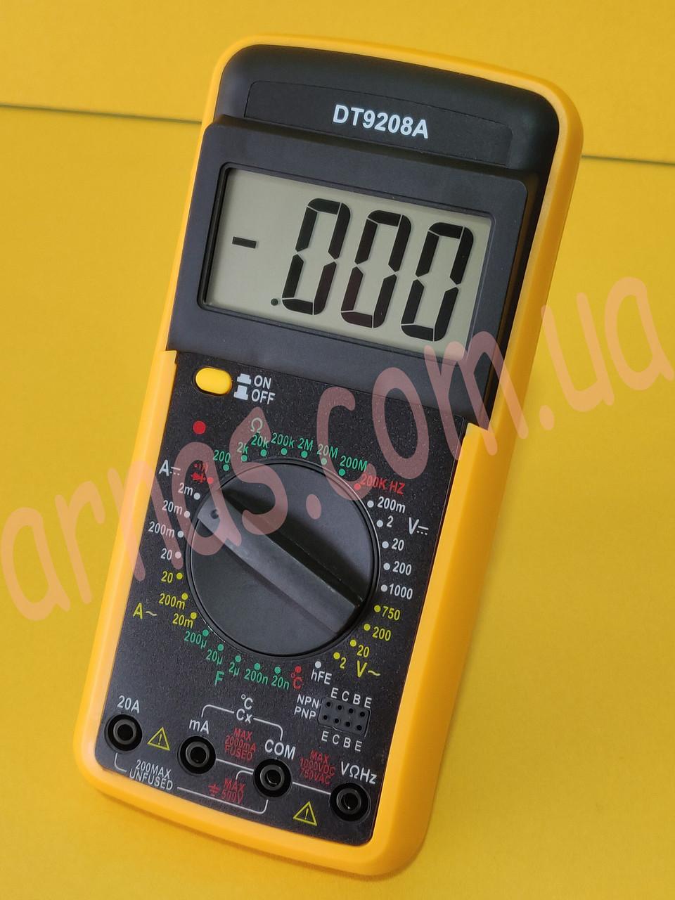 Тестер DT9208A Мультиметр цифровой