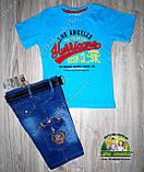 Джинсовые шорты бриджи с карманами для мальчика, фото 4