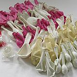 Набір італійських надувних куль 110 шт для біло-рожевої арки 1967, фото 3
