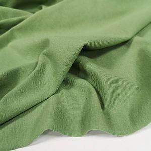 Ткань кулир стрейч оливка