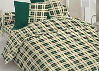 Постельное белье полуторное Gold - зеленые кубики