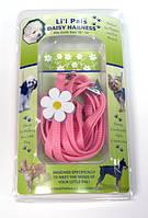 Шлея и поводок для собак Coastal Daisy Combo, нейлон, розовый | 0,8 см.Х 25-35 см.