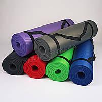 Коврик NBR 10мм для йоги и фитнеса Pro серия, каремат для тренировок и туризма из вспененного каучука