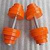 Гантелі набірні металеві з подвійним покриттям 2 по 32 кг фарба+лак (загальна вага 64 кг) розбірні складальні