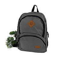 Тканинний рюкзак унісекс поліестер сірий Арт.8081 Leadhake (Китай)