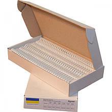 Пружина металева Agent A4, 25.4 мм, біла, 50шт. (1225071)