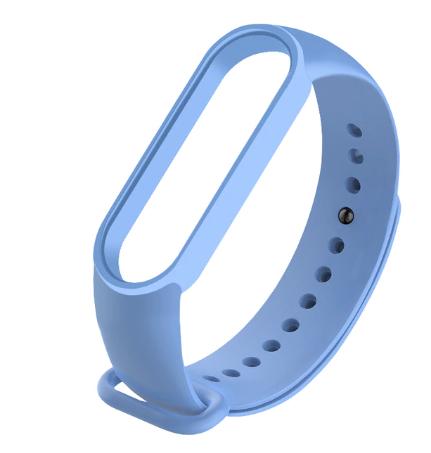 Силиконовый голубой ремешок на фитнес трекер Xiaomi mi band 6 браслет