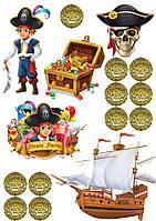 Вафельна картинка пірати