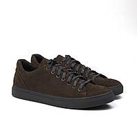 Мужские кеды кроссовки коричневые нубук обувь демисезонная Rosso Avangard Konvaro Brown Nub TPR