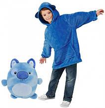 """М'яка іграшка трансформер - худі з капюшоном """"Huggle Pets"""" синє (на вік від 3 до 11 років)"""