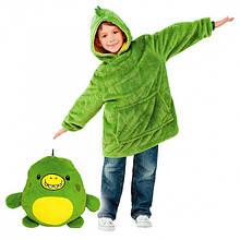 "Мягкая игрушка трансформер - худи с капюшоном ""Huggle Pets"" зеленое (на возраст от 3 до 11 лет)"