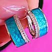 Серебряный комплект с бирюзовой эмалью - Серебряные серьги с эмалью - Кольцо с эмалью серебро, фото 3