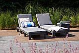 Комплект шезлонгів Allibert by Keter Daytona Graphite ( графіт ) 2 шт з м'якими подушками, фото 9