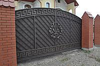 Кованые ворота роспашные так и откатные