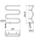 Электрический полотенцесушитель Mario Лиана-I 600x500, електрична рушникосушка, фото 2
