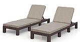 Комплект шезлонгов Allibert by Keter Daytona Brown ( коричневый ) 2 шт с мягкими подушками, фото 7