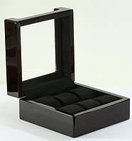 Шкатулка для хранения часов на 6 отделений Rothenschild RS-806-6EB с черным велюром