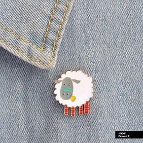 Значок металлический Пин Pin City-A Овца №950, фото 2