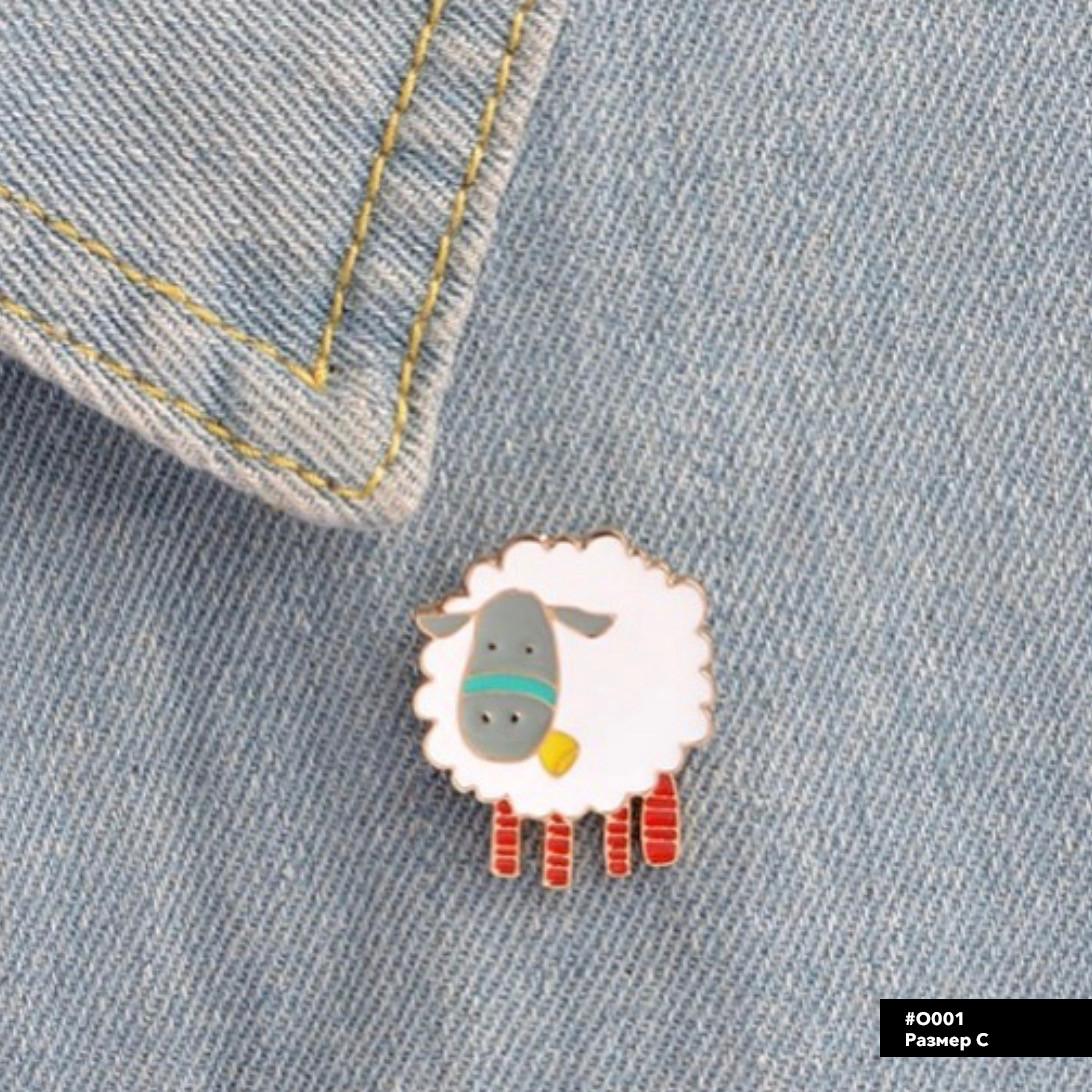 Значок металлический Пин Pin City-A Овца №950
