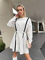 Сукня креп-дайвінг жіноча МОЛОКО (ПОШТУЧНО), фото 1
