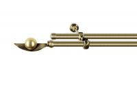 Карниз кованный диаметром 16 мм в два ряда